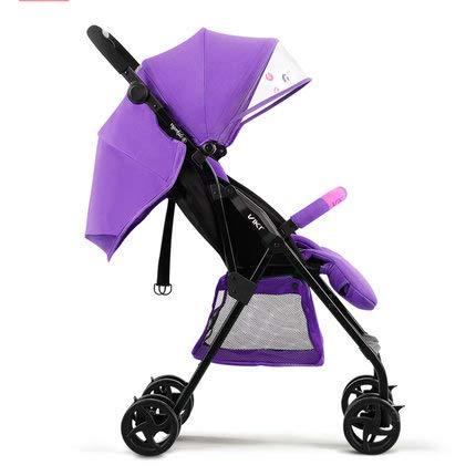 CJCJ-LOVE Poussette bébé Can Sit Reclining bébé Voyage 0-3 Ans bébé Poussette Ultra léger Pliant Portable Ultra-léger en Coton Pad Four Seasons Chariot Universel,D