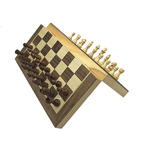JQDMBH Ajedrez,Internacional de Ajedrez Junta de Madera de Madera de ajedrez de Madera Piezas de Madera Maciza Tablero de ajedrez Plegable Puzzle de Alta Gama Juego de ajedrez (Color : Big)