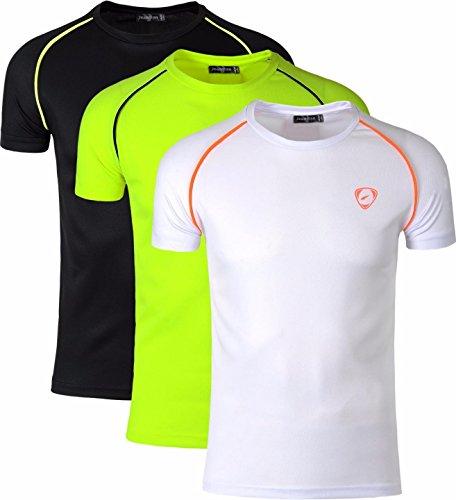T-shirt da uomo manica lunga Top Maglioncino taglia S M L XL XXL XXXL Bianco Nero Giallo