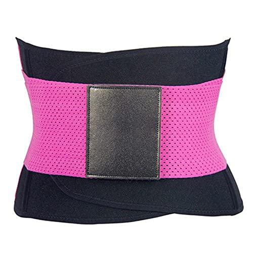 MVNZXL Cintura Entrenador, Fajas Reductoras Adelgazantes Mujer para Gimnasio, Cinturón Lumbar Abdominal de Ayuda para Sudar y Hacer Deporte, para Deporte Fitness(Color:Purple,Size:Medium)