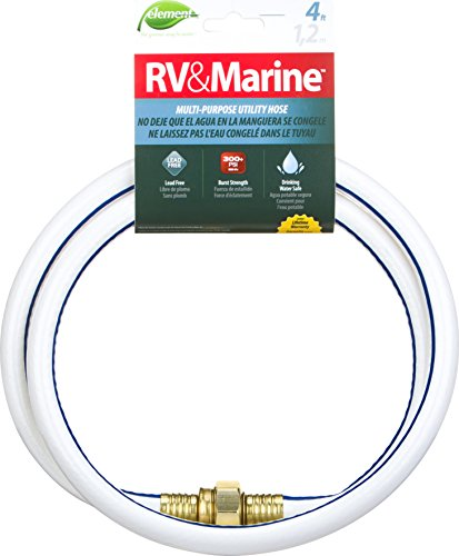 Swan Products ELMRV12004 Element RV & Marine Camping and Boating Water Hose 4' x 1/2', White