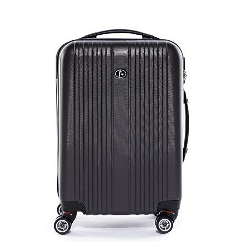 FERGÉ Set di tre valigie TOULOUSE - bagaglio rigide duro da 3 - tre pz. valigie con 4 ruote (360) - pelle grey