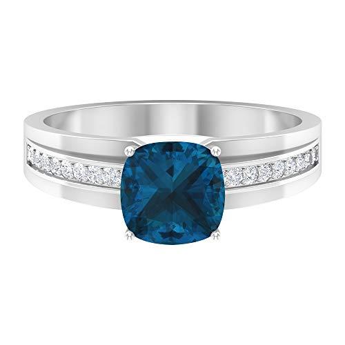 Anillos De Compromiso Oro Blanco Y Diamantes Precios marca Rosec Jewels