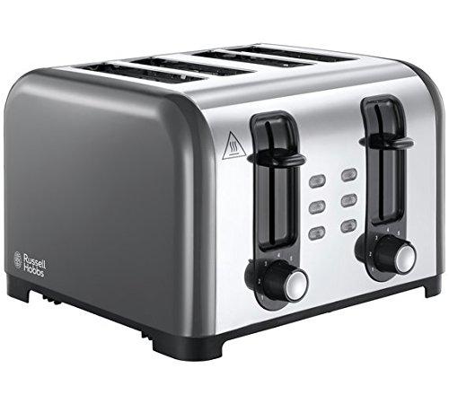 Russell Hobbs 23546 Toast-Toaster mit 4 Schlitzen, 1500 W, Grau