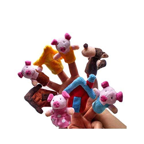 CAOLATOR 8pcs Juguete Dedos Finger Educativo Marioneta