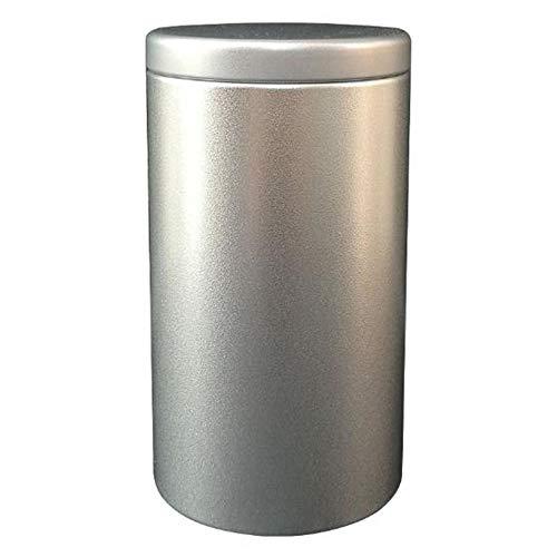 CIGARETTE CASE RDJSHOP Caja De Cigarrillos Estante De Caja De Almacenamiento De Cigarrillos A Prueba De Humedad Sellado Redondo Creativo De Hierro Plateado