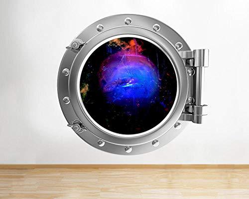 3D Wandaufkleber Space Planet Paint Buntes Fenster Wandtattoo 3D Kunst Aufkleber Vinyl Zimmer