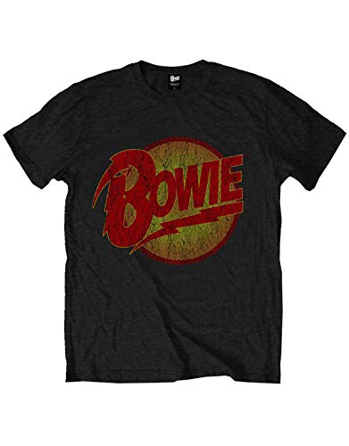 David Bowie Kids T Shirt Vintage Diamond Dogs Logo offiziell Schwarz Ages 1-12