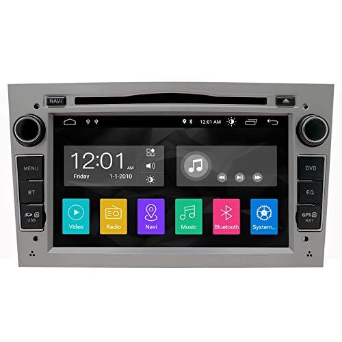 Voiture stéréo Android 8,1 Radio Lecteur DVD GPS NAVI 7 Pouces IPS 2 DIN Convient pour Opel Antara Vectra Crosa Vivaro Zafira Meriva caméra arrière Bluetooth WiFi Miroir Lien USB SWC OBD (Gris)