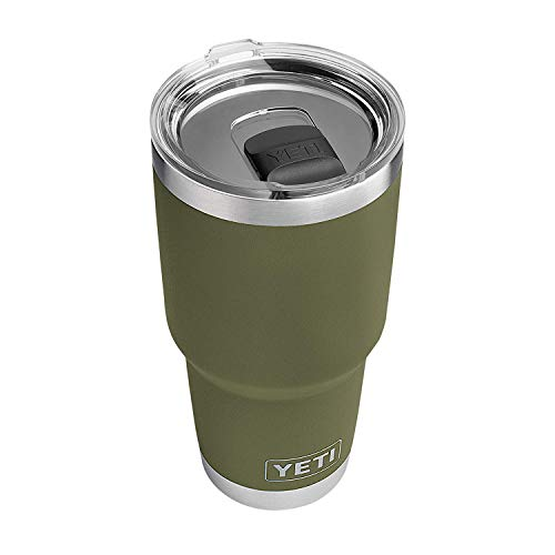 YETI Rambler 30 oz Stainless Steel Vacuum Insulated Tumbler w/MagSlider Lid, Olive Green