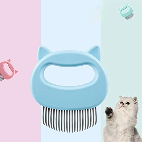 DGHJK Pet Brush Hair Remover, Pet Cat Dog Massage Shell Comb Grooming Hair Removal Shedding Cleaning Brush