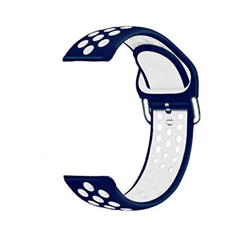 Banda de reloj de silicona de 20 mm de correa para Huami Amazfit GTS 2 Smart Muñequera Reemplazo de la brazalete de la pulsera Accesorios de instalación rápida ( Color : H , Size : For Amazfit GTS 2 )