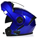 Bluetooth Integrado Modular Casco Moto Integral Para Motocicleta, Personalidad Fresca Casco Con Doble Visera, Para Montar Al Aire Libre Apto Para Cruceros Locomotora F,L=58~59cm