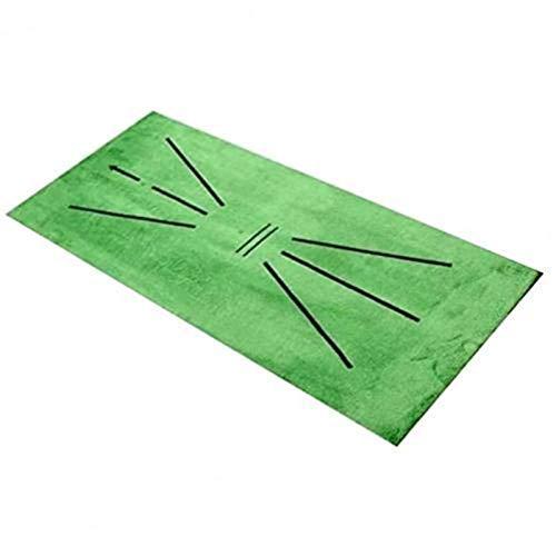 Inicio Golf Práctica Mat Mat Carrito de golf Estera del piso, Entrenamiento de golf Detección de swing Mat Bating Golfer Practice Capacitación Ayuda Cojín Accesorios deportivos al aire libre (Color: V