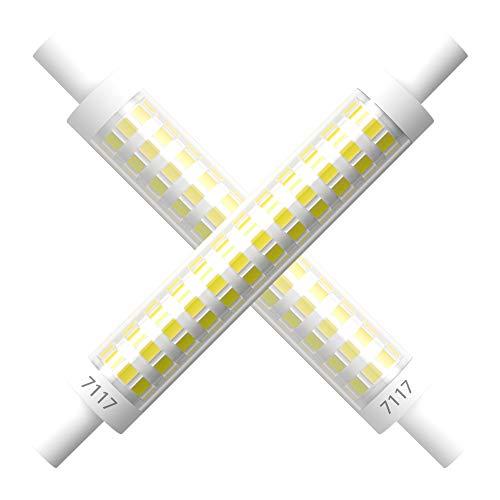 7117 R7S 90-265V 118MM Lineare LED Lampe 10W R7S Flutlicht Kaltweiß 6000K, 100W Doppelter Halogenersatz, Nicht Dimmbar (2er-Pack)