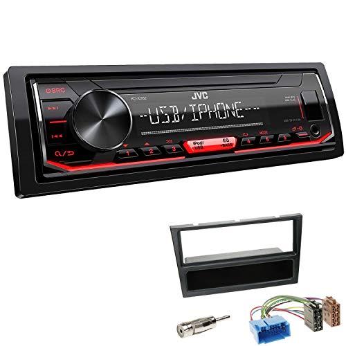 JVC KD-X262 1-DIN Autoradio Shortbody Einbauset passend für Suzuki Wagon R+ 2000-2006 schwarz