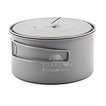 TOAKS Tasse/Pot de Camping Portable Ultraléger en Titane