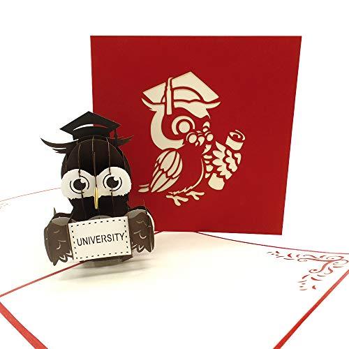UNICUM Glückwunschkarte 3D Pop-Up Studium | Studienbeginn | Studienabschluss | Uni Abschluss | Abitur | Examen | Bachelor | Master | Matura