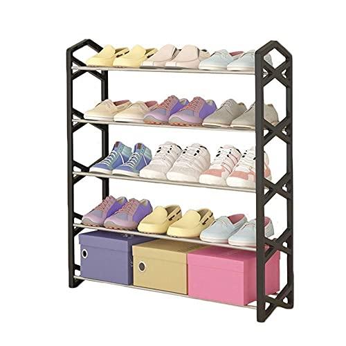 GYCS Soporte Zapatero estantes apilables de 4 Niveles - para el baño