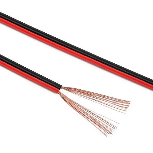 Manax SC2075RB-50 Lautpsrecherkabel 2x0,75 mm² CCA (Boxenkabel/Audiokabel), Ring 50 m, rot/schwarz