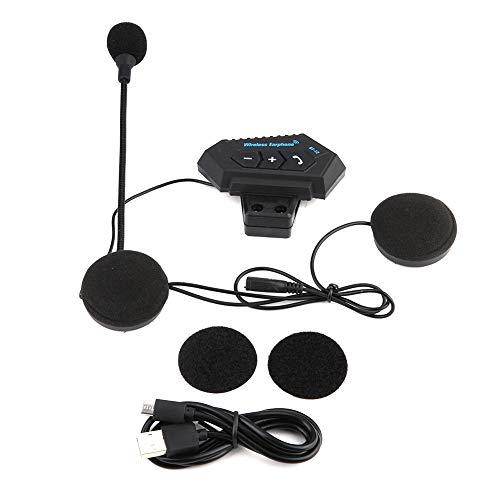 Auriculares BT para casco, 1 par de altavoces para auriculares con intercomunicador para motocicleta, compatible con kit de micrófono para llamadas manos libres