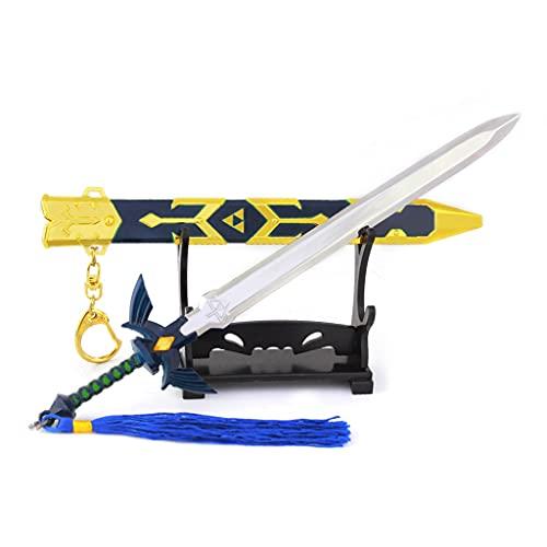 Cosplay Espada Maestra Modelo Desmontable Mini Arma De Metal Escala 1/5 Llavero Decoración Colección De Manualidades para Niños