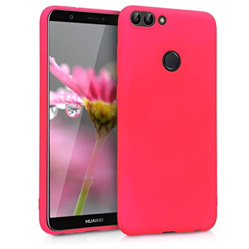 kwmobile Cover Compatibile con Huawei Enjoy 7S / P Smart (2017) - Cover Custodia in Silicone TPU - Backcover Protezione Posteriore - Rosa Shocking