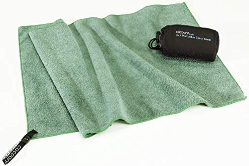 Cocoon Reisehandtuch Terry Towel Light - Microfiber - L - Bamboo Green