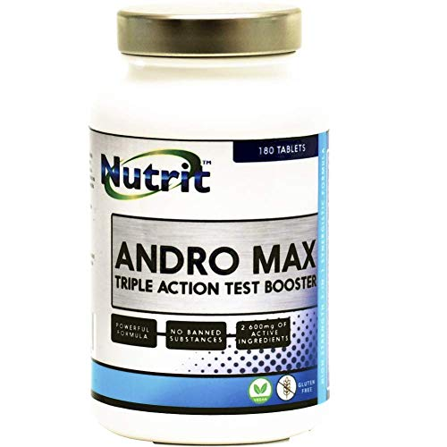 Testosterone Booster for Men ANDROMAX - Natural Ingredients, Booster for Men Libido, Strong Formula 1 Month Supply. Vegan & Gluten Free