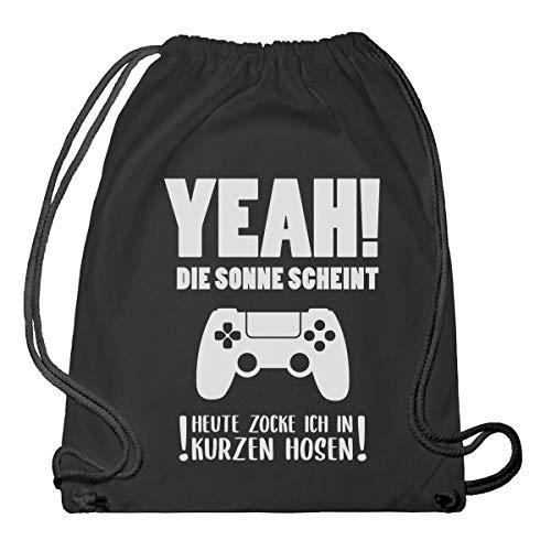 Shirtgeil gaming cadeau - Vandaag trek ik in korte broeken gymtas & gymtas