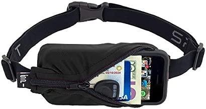 SPIbelt Running Belt Original Pocket, No-Bounce Waist Bag for Runners, Athletes Men and Women, fits Smartphones iPhone 6 7 8 X, Workout Fanny Pack, Expandable Sport Pouch, Adjustable Black Zipper