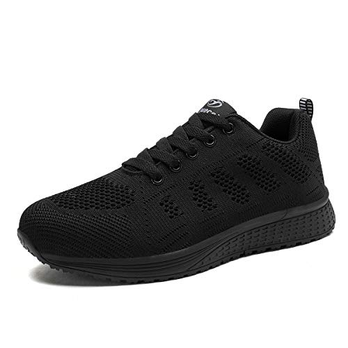 Zapatillas Deportivas Mujer Bambas Ligero Mujer Calzado Deportivo Tenis Mujer Zapatos para Correr Mujer Negro Completo,39 EU