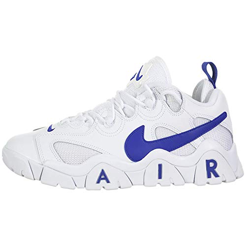 Nike Herren Air Barrage Low Basketballschuh, White/Hyper Blue, 45.5 EU