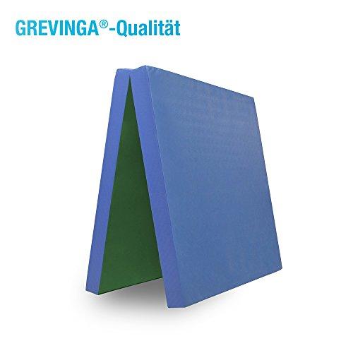 Grevinga® klappbare Turnmatte - Restposten - RG 22 - 200 x 100 x 8 cm in grün