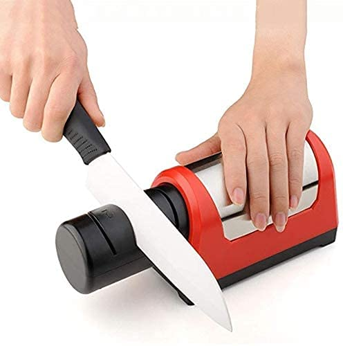 HSWYJJPFB Afilador De Cuchillos Afilador Cuchillos Afilador de Cuchillos eléctrico, Cocina casera, Herramientas de Afilado de Diamante de 2 etapas adecuadas, para Chef y Uso doméstico Knife Sharpene
