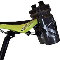 VeloChampion Montura Portabotellas Doble para Sillín de Bicicleta – para Triatlones – Metal Negro