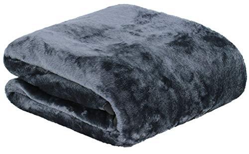 Brandsseller Manta de Suave Microfibra Que le garantizará una sensación de Cashmere, Sedoso y con un Brillo Especial. Color Gris XL 150 x 200 cm