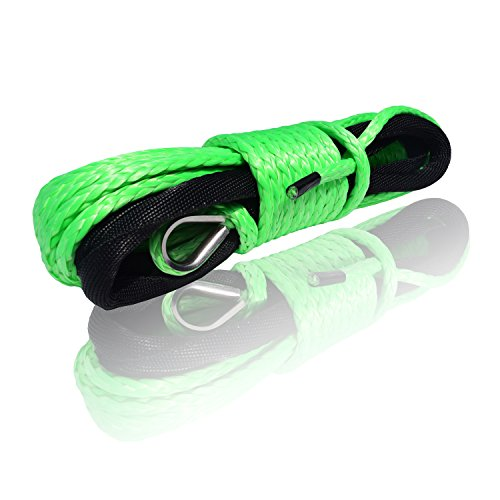 Purchase QIQU 1/4 inch Synthetic Winch Rope Cable Winch Rope for ATV Electronic Winch BS: 6500lb (1/...