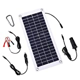 TISHI HERY 18V 12V 12W Solar Battery Charger and Maintainer 12W Portable...