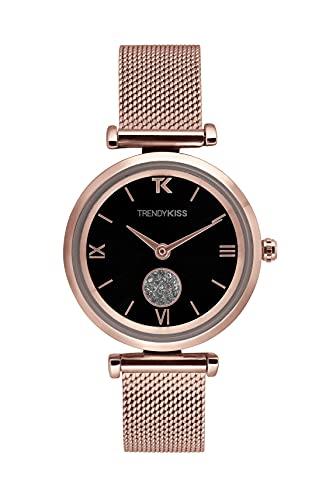 Trendy Kiss Reloj Analógico para Mujer de Cuarzo con Correa en Acero Inoxidable TMRG10139-02