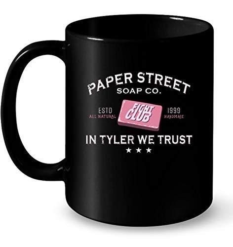 N\A Taza de café Paper Street Soap co Fight Club estd All Natural 1999 muqs
