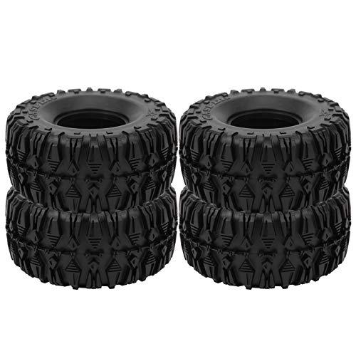 Robustos neumáticos de Rueda de Goma RC Que se adaptan al neumático RC Duradero 4 Piezas Accesorios de RC neumático de Goma RC para SCX10 TRX4 RC trepadora de orugas