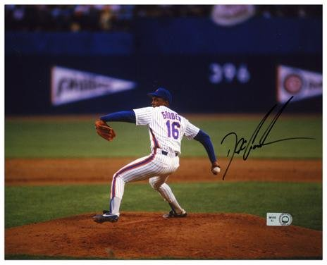 """Dwight Doc Gooden New York Mets Autographed 8"""" x 10"""" Horizontal Pitching Photograph - Autographed MLB Photos"""