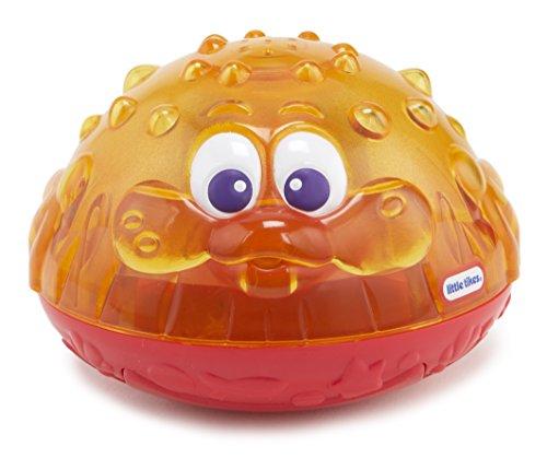 Little Tikes 173868GR Sparkle Bay Funkelfontäne leuchtendes Wasserspielzeug mit Schwimm- und Wasserspritzfunktion, Badewannenspielzeug für Kinder ab 18 Monaten, orange