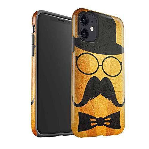 eSwish telefoonhoesje/Cover/Skin/IP-3DTBM / Retro Moustache Collectie Apple iPhone 11 Stuur/Bril