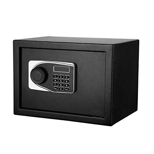 Buyi-World Cassaforte Elettronica Mini Cassaforte Digitale da Muro con Password e Chiave per Gioielli 23 * 17 * 16CM