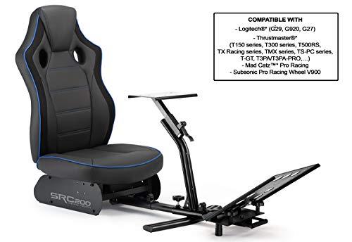 Subsonic - Asiento de simulación de cubo con soporte para volante y pedales, Driving SRC 200 (PS4 / Xbox One/PC)