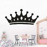 Princesa corona pared pegatina niñas dormitorio corona pared arte calcomanía...