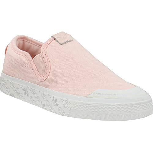adidas Nizza - Zapatillas de deporte sin cordones para mujer, estilo casual,, rosa (Rosado), 37.5 EU