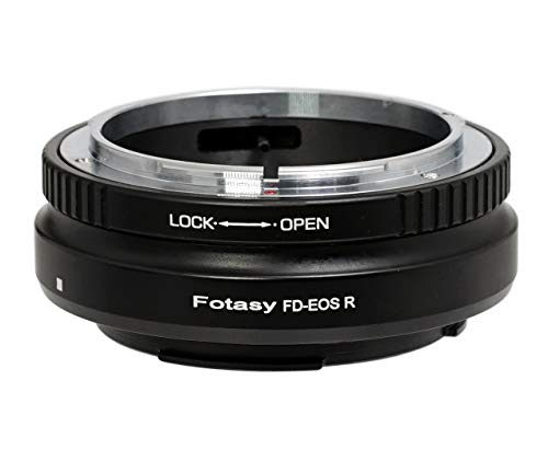 Fotasy Canon FD Lens to Canon EOS RF Mount Metal Adapter, FD EOS R Adapter, fits Canon FD Mount Classic Manual Lense & Canon EOS R Mirrorless Camera EOS R/RP/Ra / R5 / R6